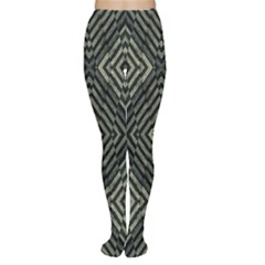 Geometric Futuristic Grunge Print Tights