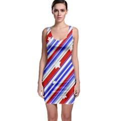 Usa Pattern Print Bodycon Dress