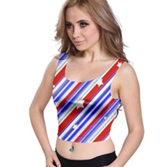 Usa Pattern Print Crop Top
