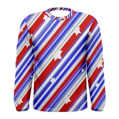 Usa Pattern Print Long Sleeve T Shirt (men)