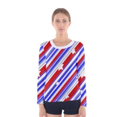 Usa Pattern Print Long Sleeve T Shirt (women)