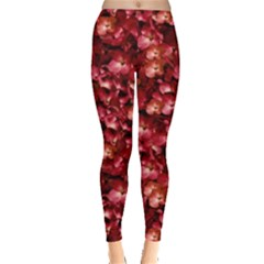 Warm Floral Collage Print Leggings