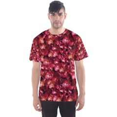 Warm Floral Collage Print Men s Sport Mesh Tee