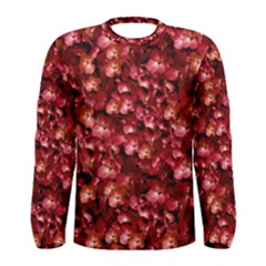 Warm Floral Collage Print Long Sleeve T-shirt (Men)