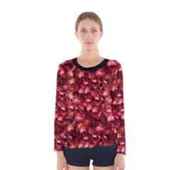 Warm Floral Collage Print Long Sleeve T-shirt (Women)