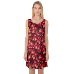 Warm Floral Collage Print Sleeveless Satin Nightdress