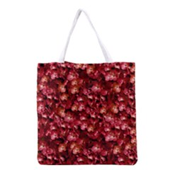 Warm Floral Collage Print Grocery Tote Bag