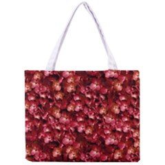 Warm Floral Collage Print Tiny Tote Bag