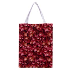 Warm Floral Collage Print Classic Tote Bag