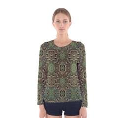 Tribal Print Long Sleeve T-shirt (Women)