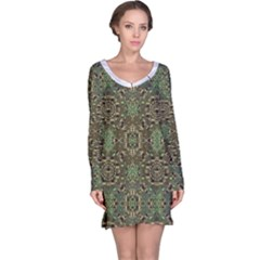 Tribal Print Long Sleeve Nightdress