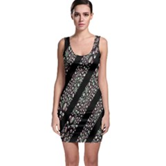 Organic Texture Stripe Pattern Bodycon Dress
