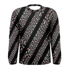 Organic Texture Stripe Pattern Long Sleeve T-shirt (Men)