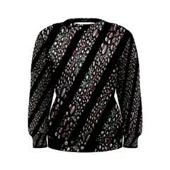 Organic Texture Stripe Pattern Women s Sweatshirt