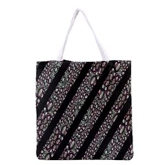 Organic Texture Stripe Pattern Grocery Tote Bag