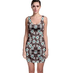 Modern Floral Geometric Pattern Bodycon Dress