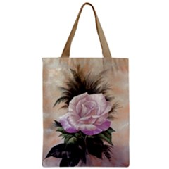 Pink Rose Classic Tote Bag 17.5  by 13.5