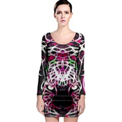 Officially Sexy Panther Collection Pink Long Sleeve Bodycon Dress
