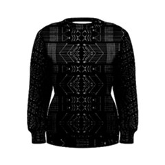 Black And White Tribal Print Women s Sweatshirt