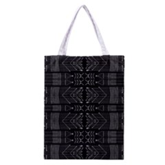 Black and White Tribal  Classic Tote Bag