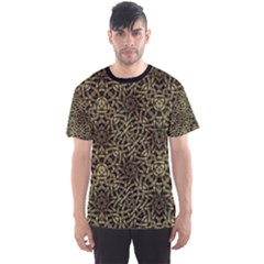 Celtic Golden Arabesque Print Men s Sport Mesh Tee