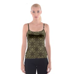 Celtic Golden Arabesque Print Spaghetti Strap Top