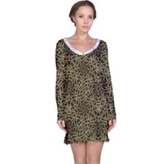 Modern Arabesque Print  Long Sleeve Nightdress