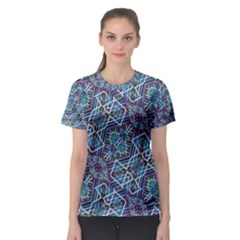 Colorful Geometric Print Women s Sport Mesh Tee