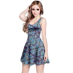Colorful Geometric Print Sleeveless Dress