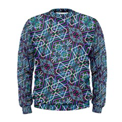 Colorful Geometric Print Men s Sweatshirt
