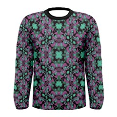 Floral Arabesque Print Long Sleeve T-shirt (Men)