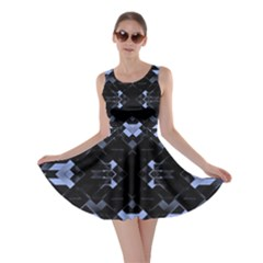 Geometric Futuristic Design Skater Dress