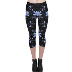 Geometric Futuristic Design Capri Leggings
