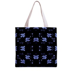 Futuristic Geometric Design Grocery Tote Bag