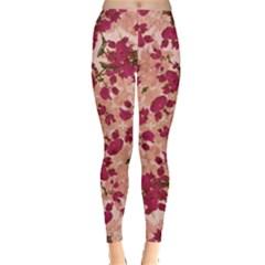 Vintage Floral Print Leggings