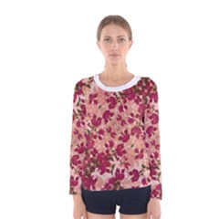 Vintage Floral Print Long Sleeve T Shirt (women)