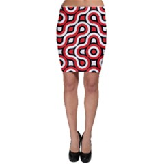Waves and circles Bodycon Skirt