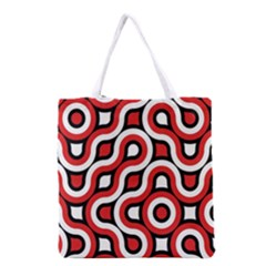 Waves and circles Grocery Tote Bag
