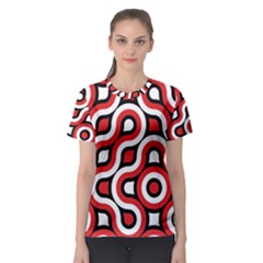 Waves and circles Women s Sport Mesh Tee