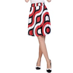 Waves and circles A-line Skirt