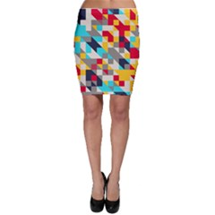Colorful shapes Bodycon Skirt