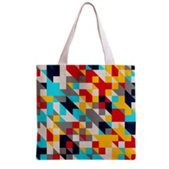 Colorful shapes Grocery Tote Bag