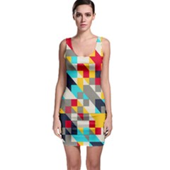 Colorful Shapes Bodycon Dress