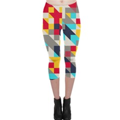 Colorful shapes Capri Leggings
