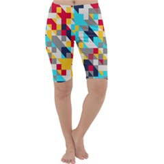 Colorful shapes Cropped Leggings