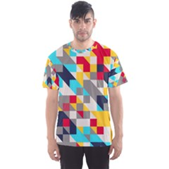 Colorful shapes Men s Sport Mesh Tee