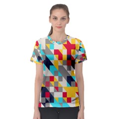 Colorful shapes Women s Sport Mesh Tee