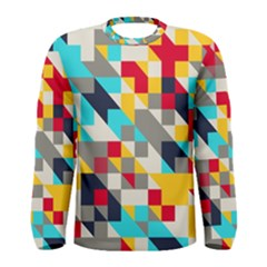 Colorful shapes Men Long Sleeve T-shirt