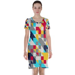 Colorful shapes Short Sleeve Nightdress