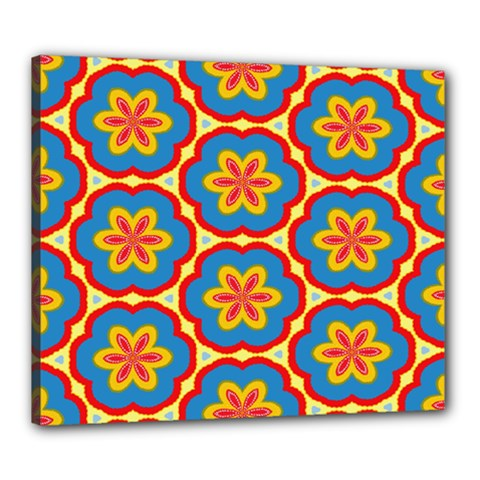 Floral Pattern Canvas 24  X 20  (stretched)